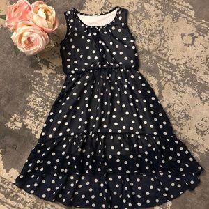 Other - Girl's Navy Polka-Dot Dress